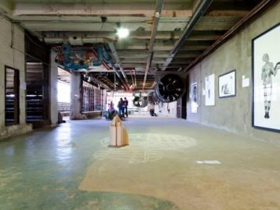 A Negotiation | Dyptich 2013 | Installation: Salt, mixed media, Cardboard (200 x 300 cm)